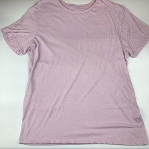 Marine Layer Purple Crewneck Short Sleeve Shirt